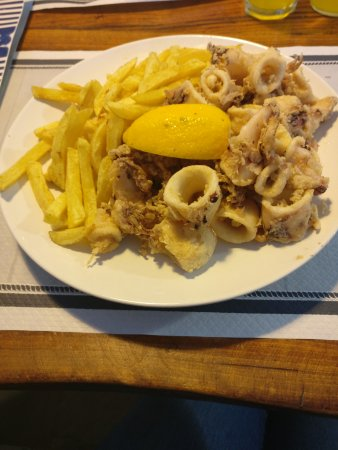 Squid and chips