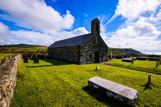 Llanfaelrhys, UK: The Church of St. Maelrhys.