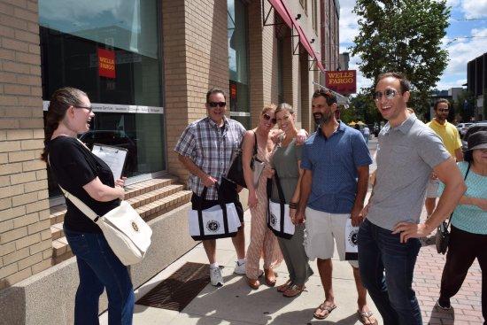 """Taste of Easton Tour Company: Enjoying our Taste of Downtown"""" Tour."""