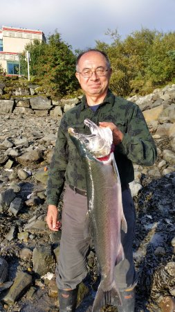 Chum Fun Charters: One of two coho salmon that I caught with the expert guidance of Paul and JP with Chum Fun.