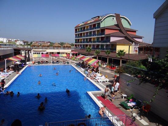 Evrenseki, Turkiet: Widok na basen