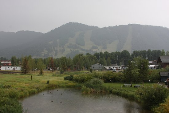 Jackson Hole, WY: The ski runs in Jackson, and a duck pond behind the visitor center.