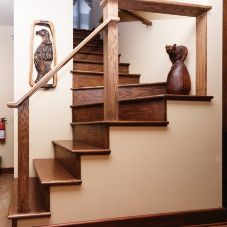 Addison, PA: The West Wing staircase with the tall steps