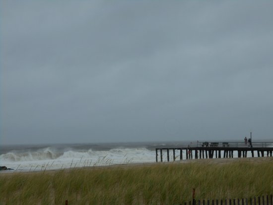 Belmar, NJ: Churning waves