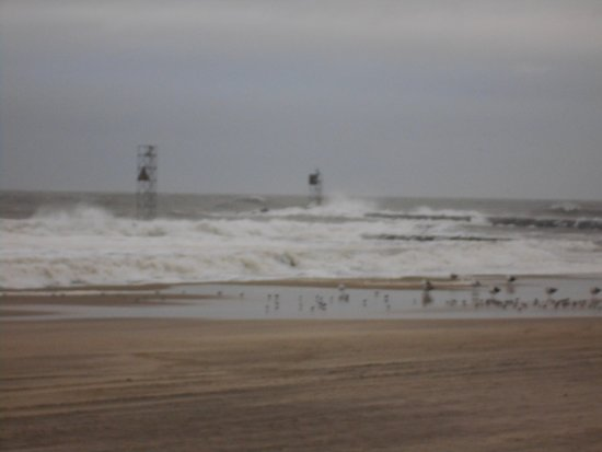 Belmar, NJ: Pounding the jetty