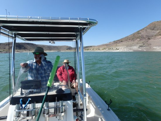 Elephant Butte, NM: My Dad and Frank May 2016 - Hunting Walleye