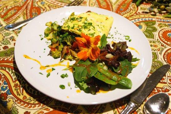 Addison, Pensylwania: Garden fresh omelette