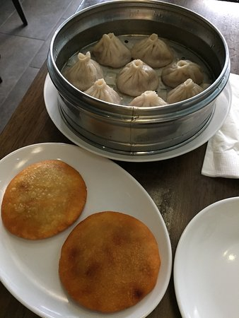dim sum garden steamed pork soup dumplings and pan fried beef potato cakes - Dim Sum Garden Philadelphia