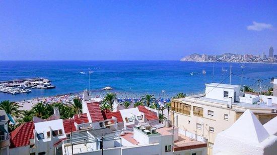 Hotel Magic Fenicia: Foto quitada desde la 7ª planta del hotel. Son las vistas desde la zona de la piscina infantil.