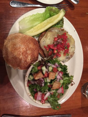 Clyde's At Mark Center: Turkey burger with salad