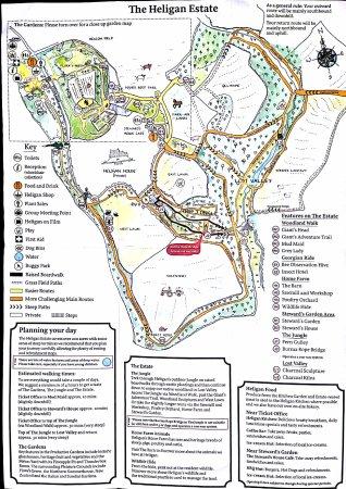 St Austell, UK: Mappa Lost Gardens Of Heligans