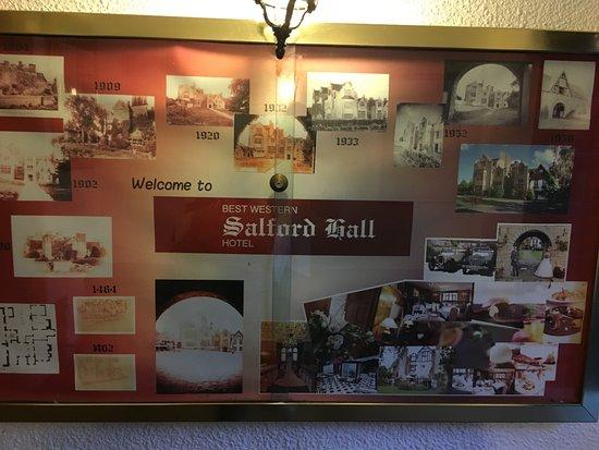 Abbots Salford, UK: History of Salford Hall