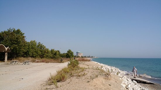 Illinois Beach State Park Bike Trail Along The Sline