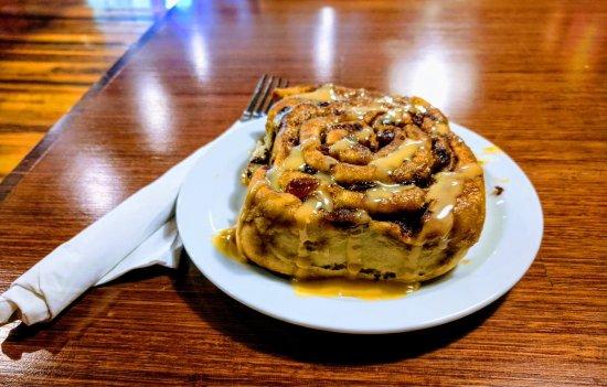 Grand Forks, Canada: Cinnamon Bun with Dulce de Leche drizzle