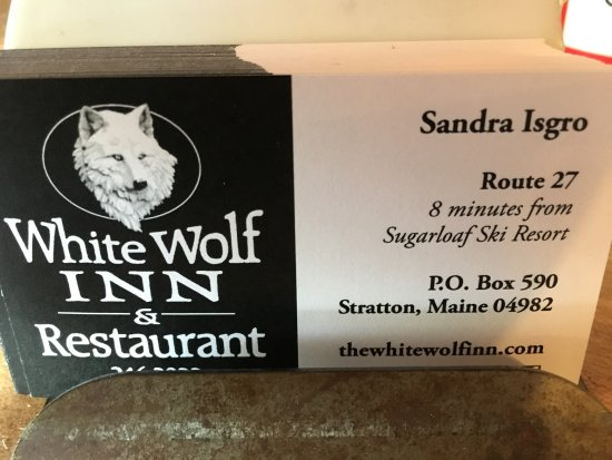 Stratton, ME: business card