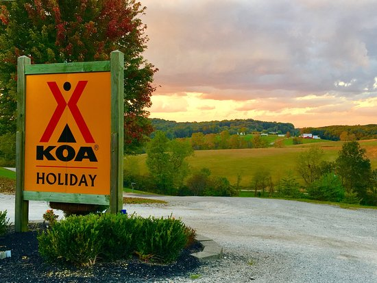 Hocking Hills KOA : This was our sunset!!