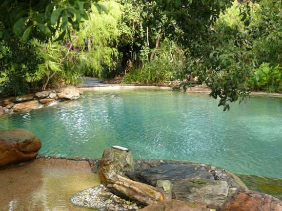 The largest of two rockpool style swimming pools - Picture ...
