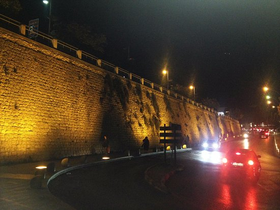 Looks great at night with lighting - Picture of Venetian Walls and ...