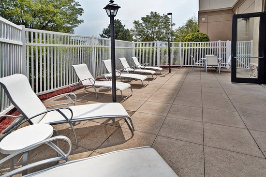 Elgin, IL: Outdoor Patio by the Pool
