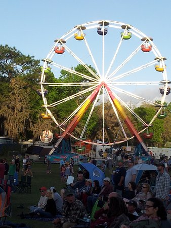 Spirit of the Suwannee Music Park: Ferris Wheel in main area for Wanee, Large festival grounds