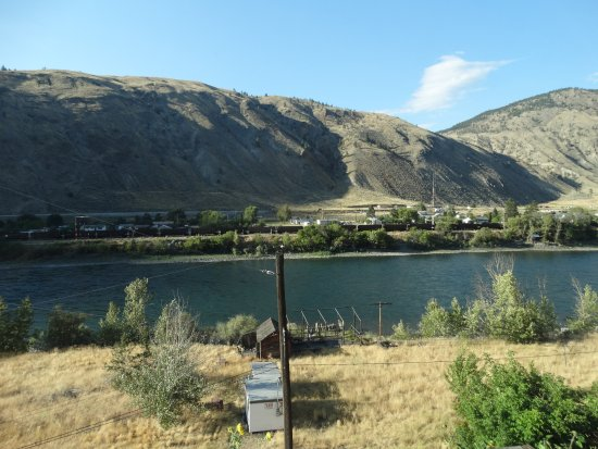 Thompson River and Spences Bridge township from the Railroad Room