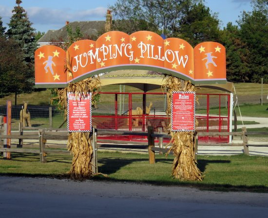 Jumping Pillow Entrance Picture Of Goebbert 39 S Pumpkin Farm South Barrington Tripadvisor