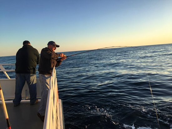 Queen Mary Party Fishing Boat & Charters: Sunset Action