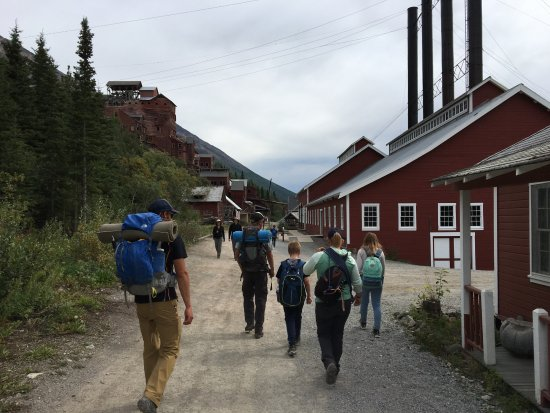 Hiking through Kennicott after Glacier Hike