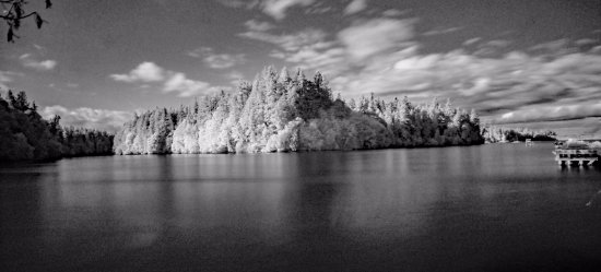 Woodard Bay Natural Resources Conservation Area: infrared shot of the bay