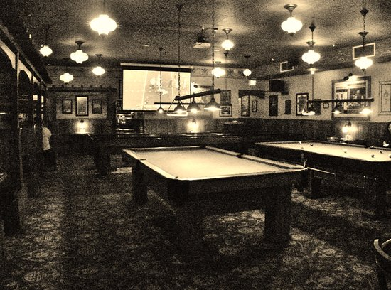 Close Up Front View Of Huge Fish Tank Picture Of McMenamins - Fish tank pool table