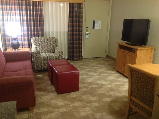 Embassy Suites by Hilton Hotel San Rafael - Marin County / Conference Center: Suite with TV set