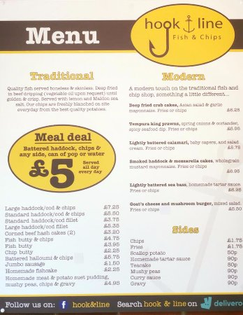 Hook line fish chips leeds restaurant reviews for Fish and hooks menu
