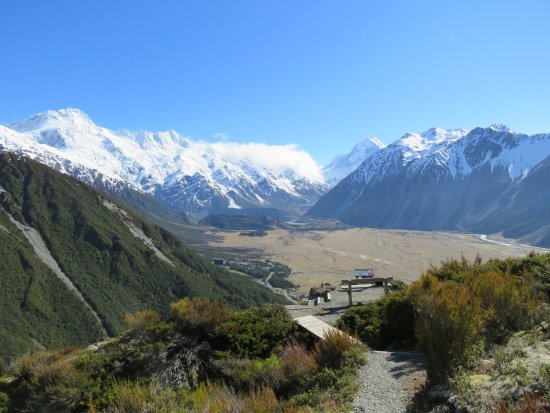 Mt. Cook Village, Νέα Ζηλανδία: 頂上からの眺望