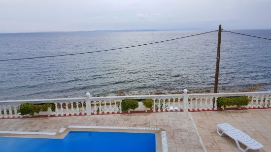 Katarraktis, Hellas: sea view from balcony