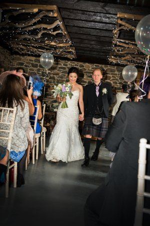 Selkirk, UK: Our ceremony in the cart shed