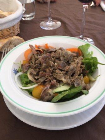 Nailloux, France: Salade de Gesiers au vinaigre framboise