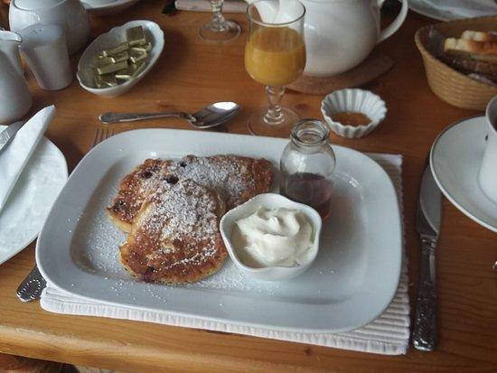 Stirabout Lane B&B: Selbstgemachte Pancakes zum Frühstück