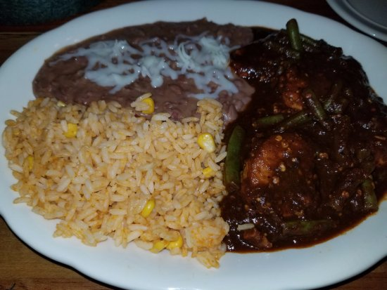 Latino's Mexican Restaurant and Bar: Special - Pork Tenderloin w/Green Beans in a Cascabel chili sauce.