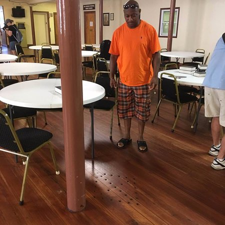 First African Baptist Church: Holes in the basement floors used in the Underground Railroad System