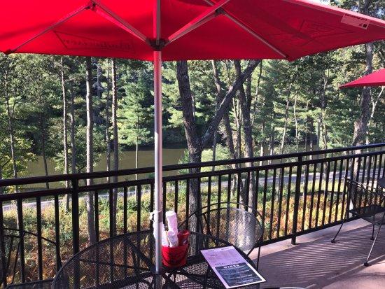 Cowboy Jacku0027s: Patio With Bike Trail And River Views