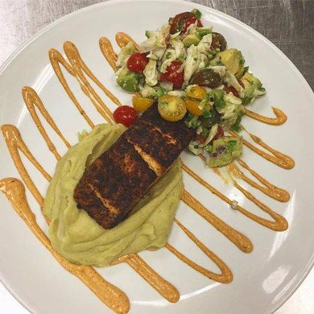 Livingston, NJ: bronzed salmon crab & avocado salad