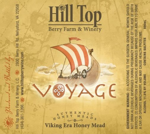Nellysford, VA: Our traditional mead label, Voyage.