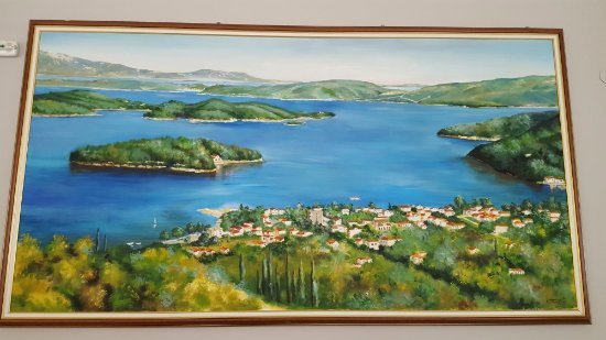 Avra Beach Hotel: Photo of painting in hotel showing Nidri and the many islands