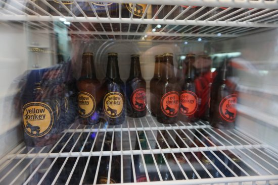 Santorini Brewing Company : Donkey beer is a very popular beer in Santorini Greece