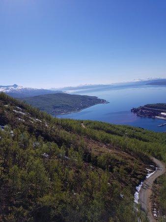 Narvik, Norge: Utsikt fra fjellet