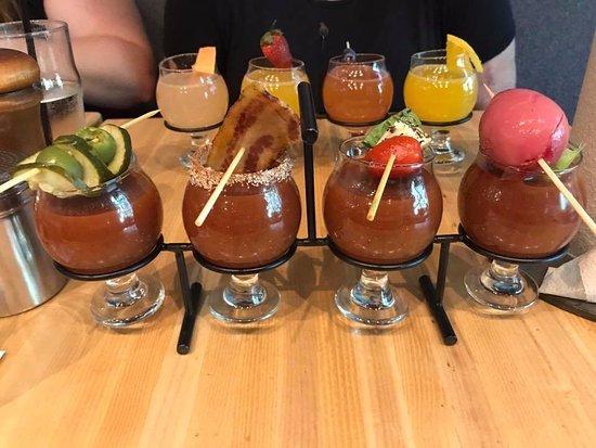 Fielding's Local kitchen + Bar: Bloody Mary flight