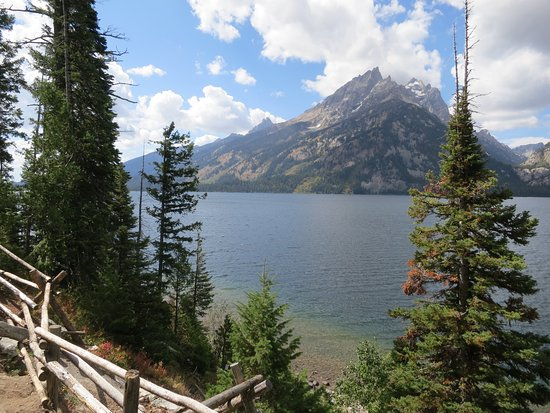 View of Jenny Lake from pull over