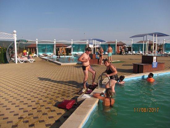 Tulsky, Russia: Несколько бассейнов с разной температурой воды.