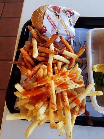 The Habit Burger Grill: sweet potato fries. regular fries.