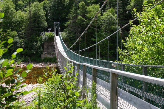 Fundy Trail Parkway: The suspension bridge